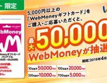 WebMoneyギフトカード5000円以上購入で、1010名様に5000円以上が当たる!ファミマ限定